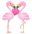 valentine flamingos topic image 7 vector image vector image