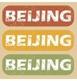 Vintage Beijing stamp set vector image