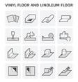 vinyl linoleum floor vector image vector image