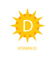 vitamin d icon with sun vector image