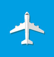 white airplane flat style vector image vector image