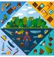 Woodworking Industry Corners vector image vector image