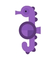 Sea horse isolated vector image