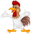 Cute rooster cartoon presenting vector image