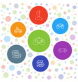 7 gaming icons vector image vector image