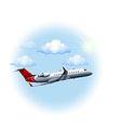 A plane travelling vector image