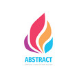 abstract colored petals logo design colorful vector image vector image