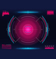 aim system modern aiming concept futuristic hud vector image