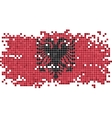 Albanian grunge tile flag vector image vector image