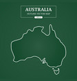 australia outline border on green background vector image vector image