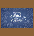 back to school banner with texture from line art vector image