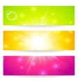 Banners headers abstract lights vector image vector image