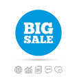 big sale sign icon special offer symbol vector image vector image
