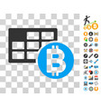 bitcoin table icon with bonus vector image vector image