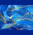 blue marble and gold abstract background texture vector image vector image