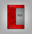 Brochures book or flyer with red squares template vector image vector image