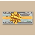 bundle of dollars gold ribbon with bow vector image vector image