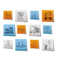 business and factory icons vector image vector image