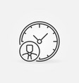 businessman and clock line icon time management vector image