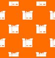 cat in a cardboard box pattern seamless vector image vector image