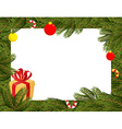 Christmas background FIR branches and Christmas vector image vector image