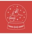 Christmas Snowglobe Card vector image
