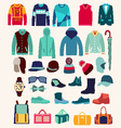 collection of man clothing vector image vector image