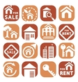 color building icons vector image vector image