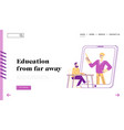 e-learning online education in internet landing vector image