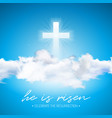 easter holiday with cross and cloud vector image