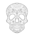 entangle stylized skull for halloween freehand vector image