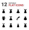 evening icons vector image vector image