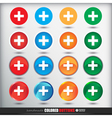 Four sets of four positions of round Colored vector image vector image