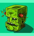 frankenstein zombie vector image vector image