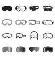 Goggles icons vector image vector image