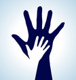 Helping Hands vector image