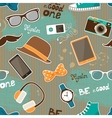 Hipster seamless elements vector image