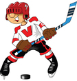 Hockey player vector image vector image