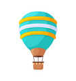 hot air balloons cartoon flat colorful vintage vector image