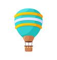 hot air balloons cartoon flat colorful vintage vector image