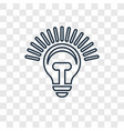 idea concept linear icon isolated on transparent vector image