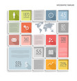 info graphic with abstract squares in flat design vector image vector image