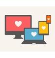 IT Love vector image