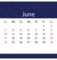june 2018 calendar popular blue premium for vector image