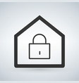 linear home lock icon isolated on modern vector image