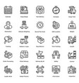 logistic delivery icons set 6 vector image vector image
