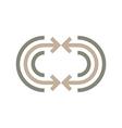 Logo Abstract Line Arrow Symbol Design Icon vector image