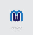 m and w initial logo mw initial monogram logotype vector image
