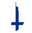 Map and flag of Finland vector image vector image