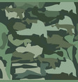 military camouflage abstract seamless pattern vector image